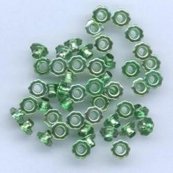 Zakovice Rože 6mm, Zelena, 50 kosov