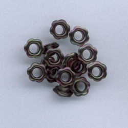 Zakovice Rože 10mm, Črna, 15 kosov