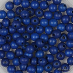 Lesene perle 4mm, Marin modre, 165 kosov