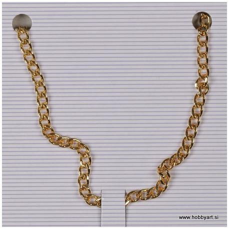 Metalna verižica 3mm x1m, zlate b.