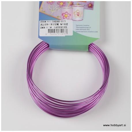 Aluminijasta žica 2mm x 5m, Lavanda