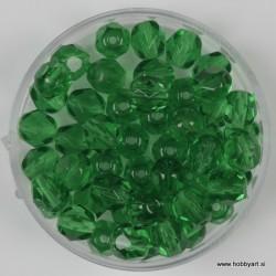Brušene steklene perle 6mm, sv. zelene 50 kosov