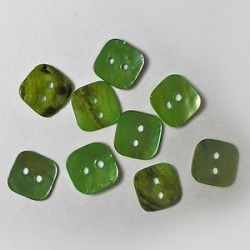 Gumbi sv. zeleni 12 x 12mm, set 20