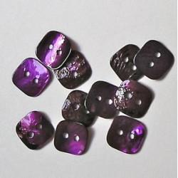 Gumbi vijolični 12 x 12mm, set 20
