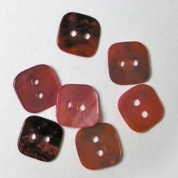 Gumbi roza 12 x12mm, set 20