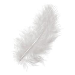 Marabu perje Bela dolžina 10cm, 15 kosov