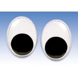 Gibljive oči ovalne