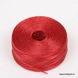 Najlonska vrvica 52m, temno rdeča