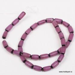 Perle Palma ovalne 6 x 12mm, Vijolična ca 34 kosov