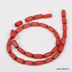 Perle Palma ovalne 6 x 12mm, Rdeča ca 34 kosov