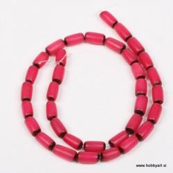 Perle Palma ovalne 6 x 12mm, Roza ca 34 kosov