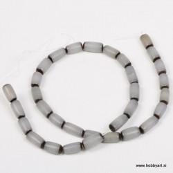 Perle Palma ovalne 6 x 12mm, Siva ca 34 kosov