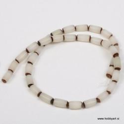 Perle Palma ovalne 6 x 12mm, Bela ca 34 kosov