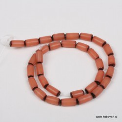 Perle Palma ovalne 6 x 12mm, Sv. rjava ca 34 kosov