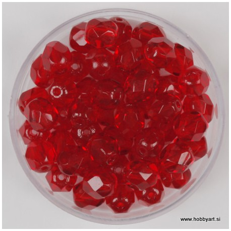 Brušene steklene perle 6mm, hyazinth 50 kosov