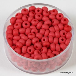 Perle mat Rdeče 4,5mm, 17g.