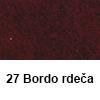 Filc 50 x 70cm debelina 3mm 27 Bordo Rdeča (art. 5301-27)