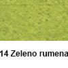 Filc 50 x 70cm debelina 3mm 14 Zeleno Rumena (art. 5301-14)