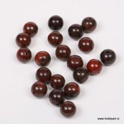 Poldrago kamenje 10mm, Rdeči Jasper, 20 kosov
