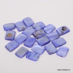 Perle biserna matica 15 x 20mm Modra, 20 kosov