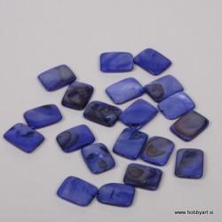 Perle biserna matica 15 x 20mm Temno Modra, 20 kosov