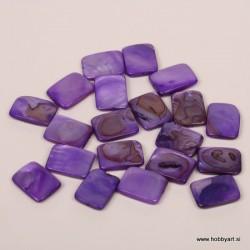 Perle biserna matica 15 x 20mm Vijolična, 20 kosov