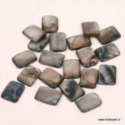 Perle biserna matica 15 x 20mm Antracitne, 20 kosov