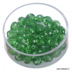 Brušene steklene perle 4x6mm, Zelene, 48 kosov