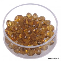 Brušene steklene perle 4x6mm, Topas, 48 kosov