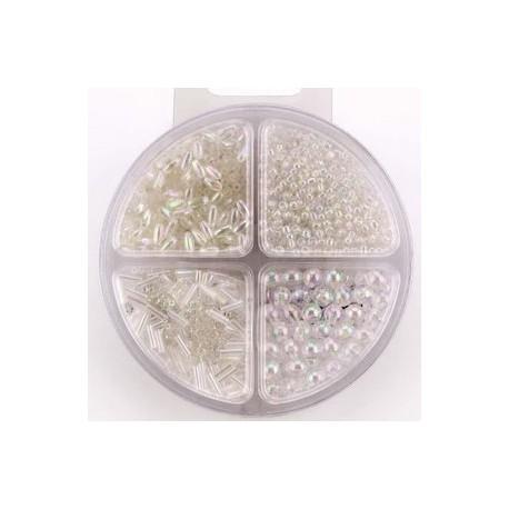 Komplet perl, 4 različne oblike biserne