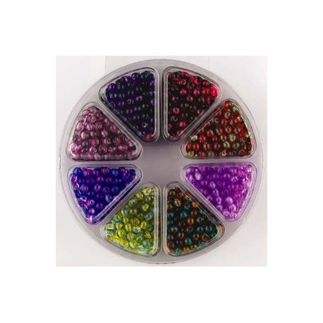 Komplet perl, 4mm, 8 različnih barv