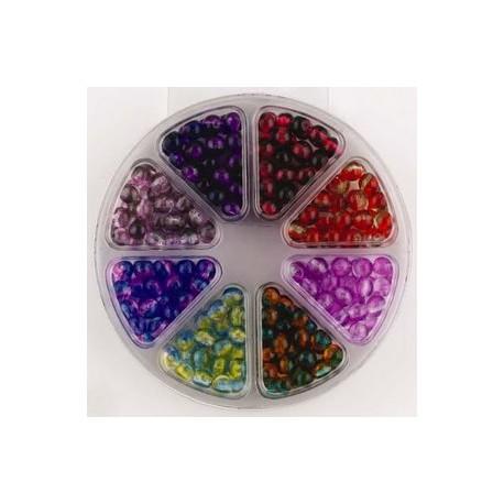 Komplet perl, 6mm, 8 različnih barv