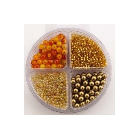 Komplet perl, 4 različne oblike zlate b.