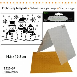 Embossing plošča Snežaki 10,8 x 14,5cm