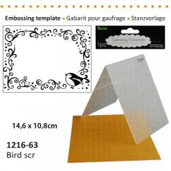 Embossing plošča Ptički 10,8 x 14,5cm