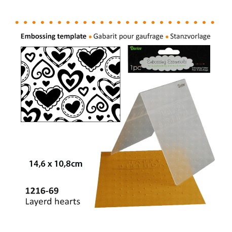 Embossing plošča Srce 10,8 x 14,5cm