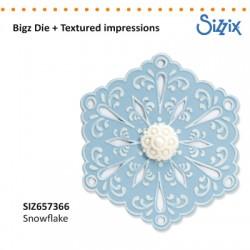 Sizzix nož s teksturo Snežinka