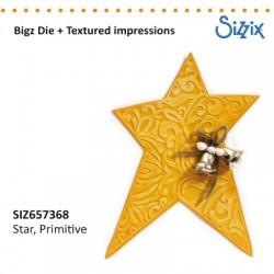 Sizzix nož + teksturo Zvezda