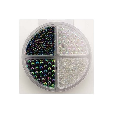 Komplet perl, 2 steklene, 2 plastične