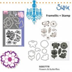 Sizzix noži in štampiljke Metuljčki + rože