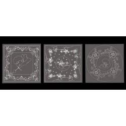 Vzorci na paus papirju 13,5 x 13,5mm, 3 kosi Angelčki Snežak