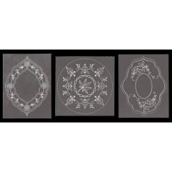 Vzorci na paus papirju 13,5 x 13,5mm, 3 kosi
