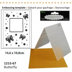 Embossing plošča Metulji + rože 10,8 x 14,5cm