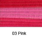 Kosmate žičke 50cm x 6mm, 9 kosov Pink b. (art. 12218-1803)