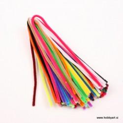 Kosmate žičke 30cm x 6mm, 26 kosov, Mešane barve