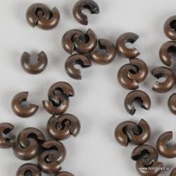 Pokrivne perle za štoparje, 5mm, Antično bakrene b. b. 50 kosov