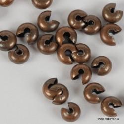 Pokrivne perle za štoparje, 6mm, Antično bakrene b. b. 50 kosov