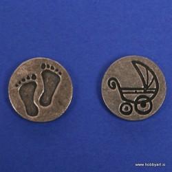 Pečat kovinski 2 motiva Nogice Voziček