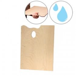 Lesena pravokotna paleta za slikanje