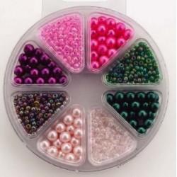 Komplet perl, 4 steklene, 4 plastične